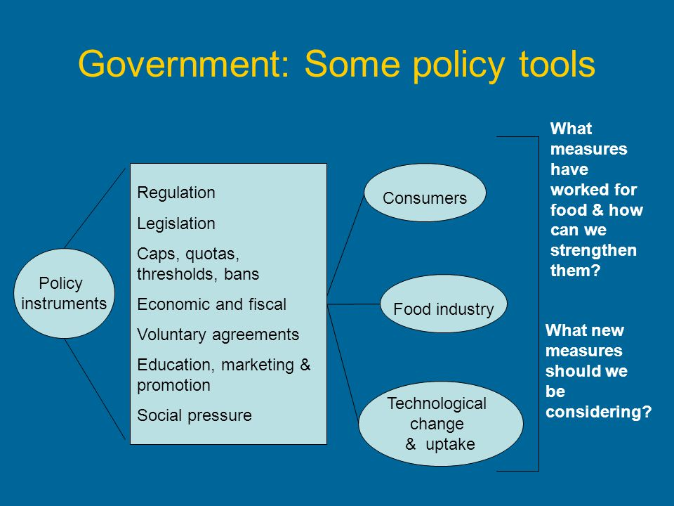 Government: Some policy tools