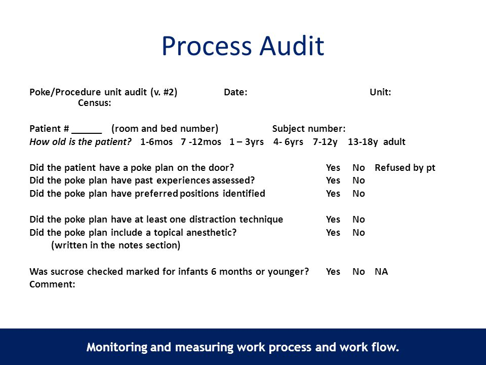 Monitoring and measuring work process and work flow.