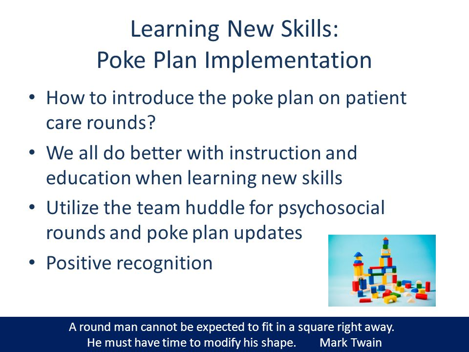 Learning New Skills: Poke Plan Implementation