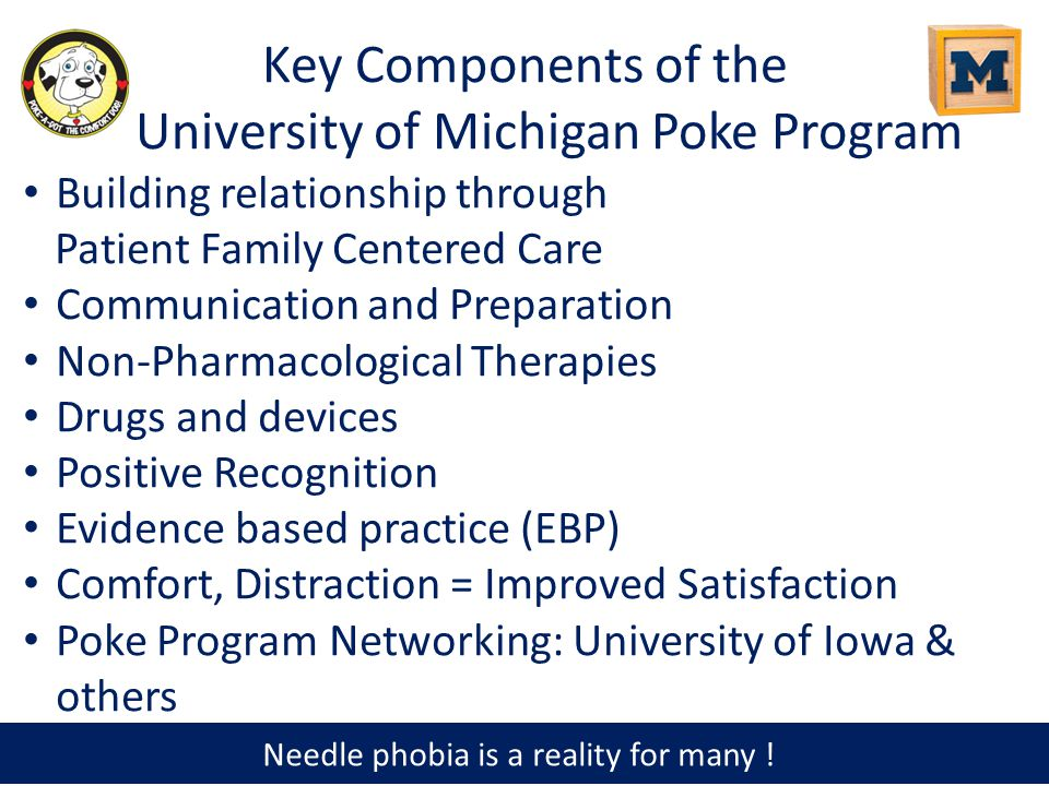 Key Components of the University of Michigan Poke Program