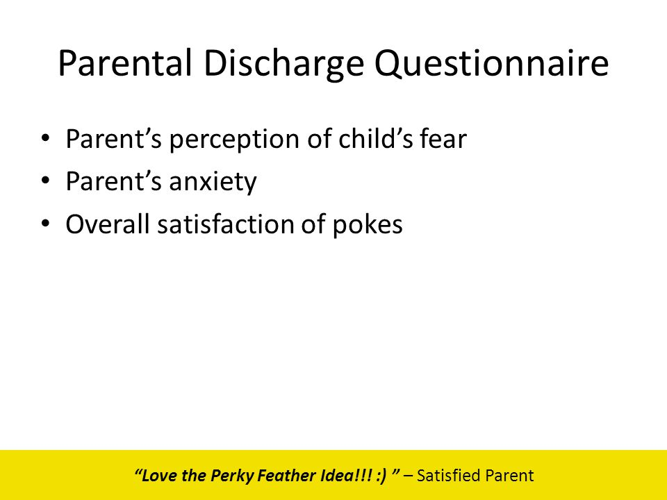 Parental Discharge Questionnaire