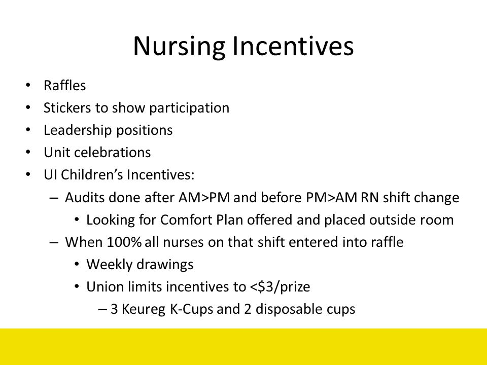 Nursing Incentives Raffles Stickers to show participation