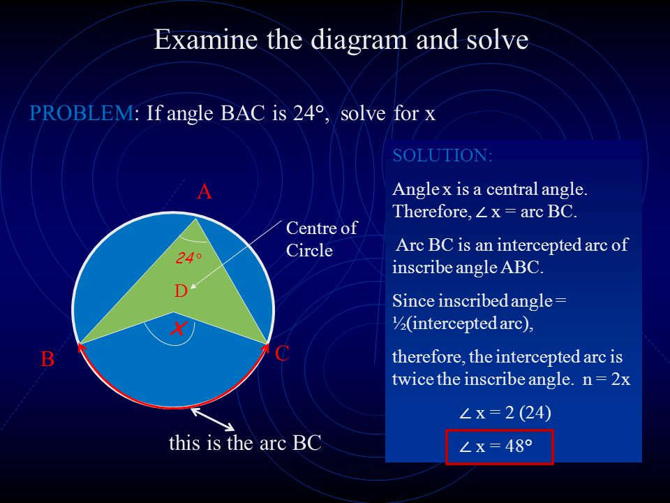 Examine the diagram and solve
