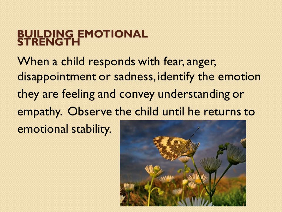 Building emotional strength