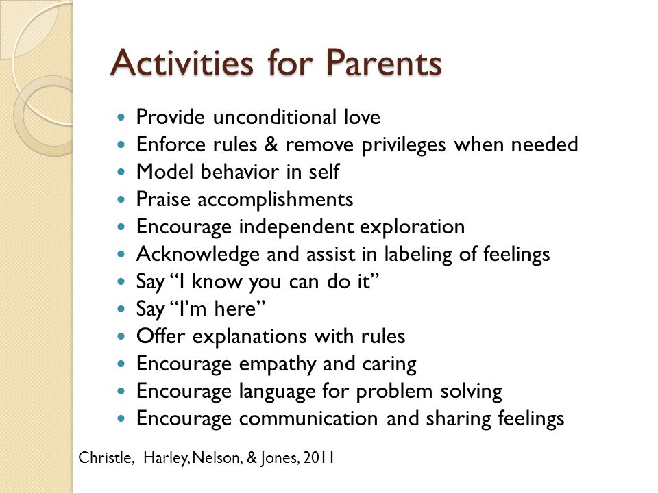 Activities for Parents