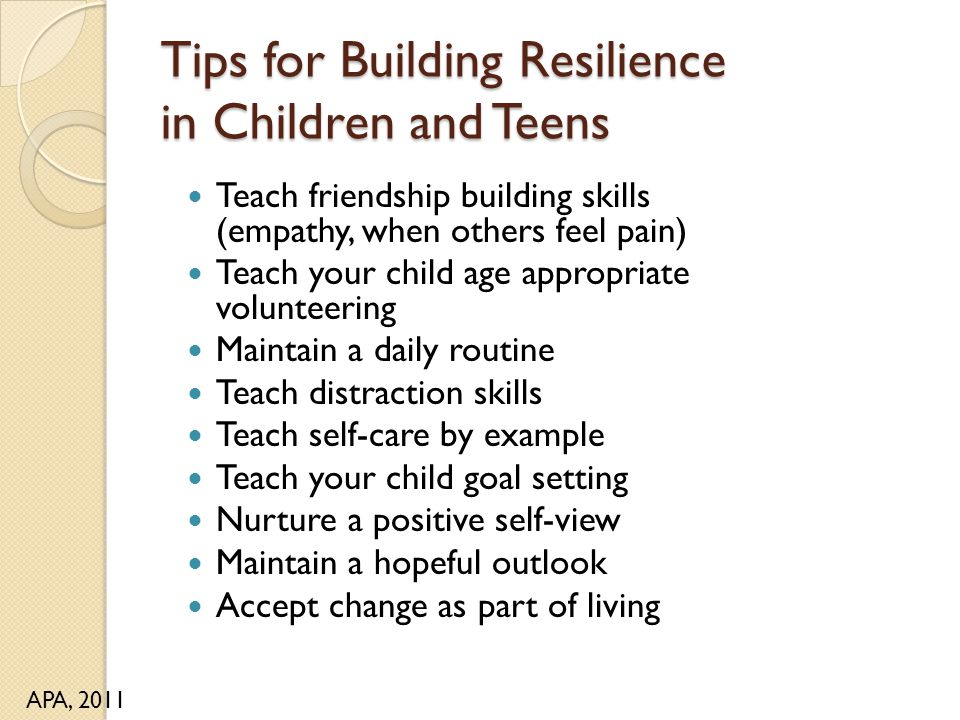 Tips for Building Resilience in Children and Teens