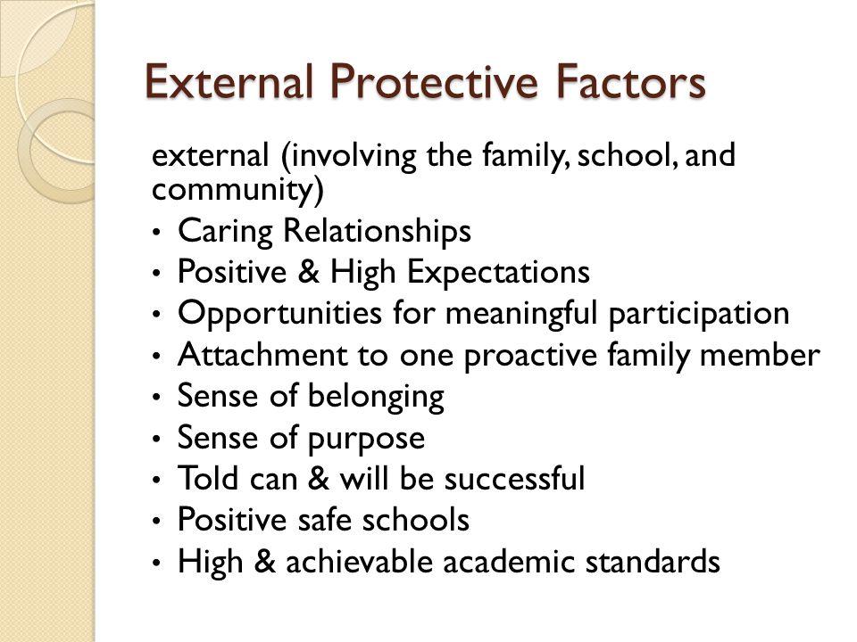 External Protective Factors
