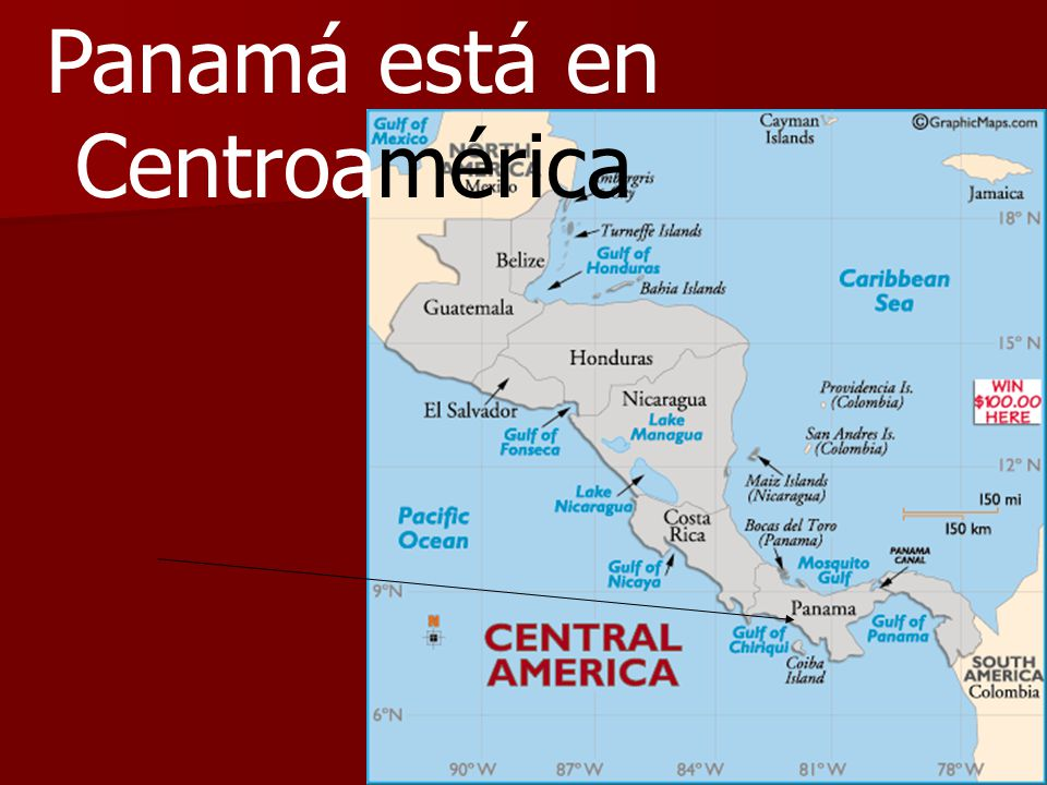 Panamá está en Centroamérica