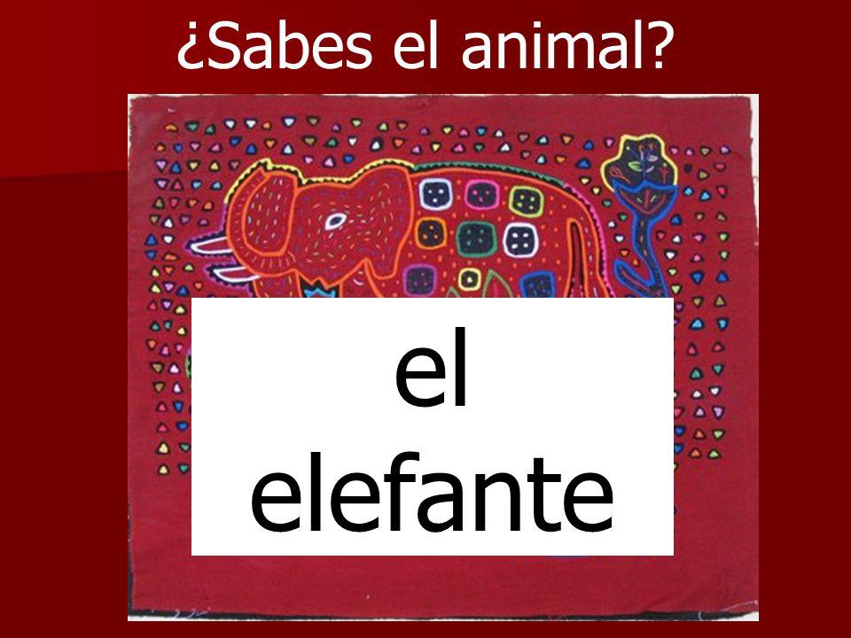 ¿Sabes el animal el elefante