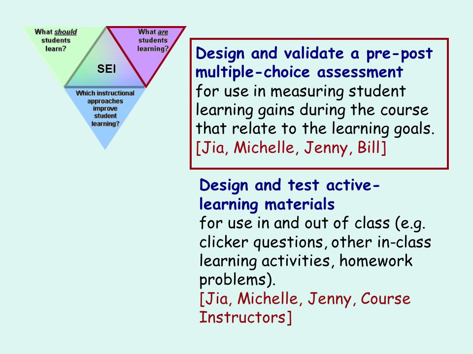 Design and validate a pre-post multiple-choice assessment