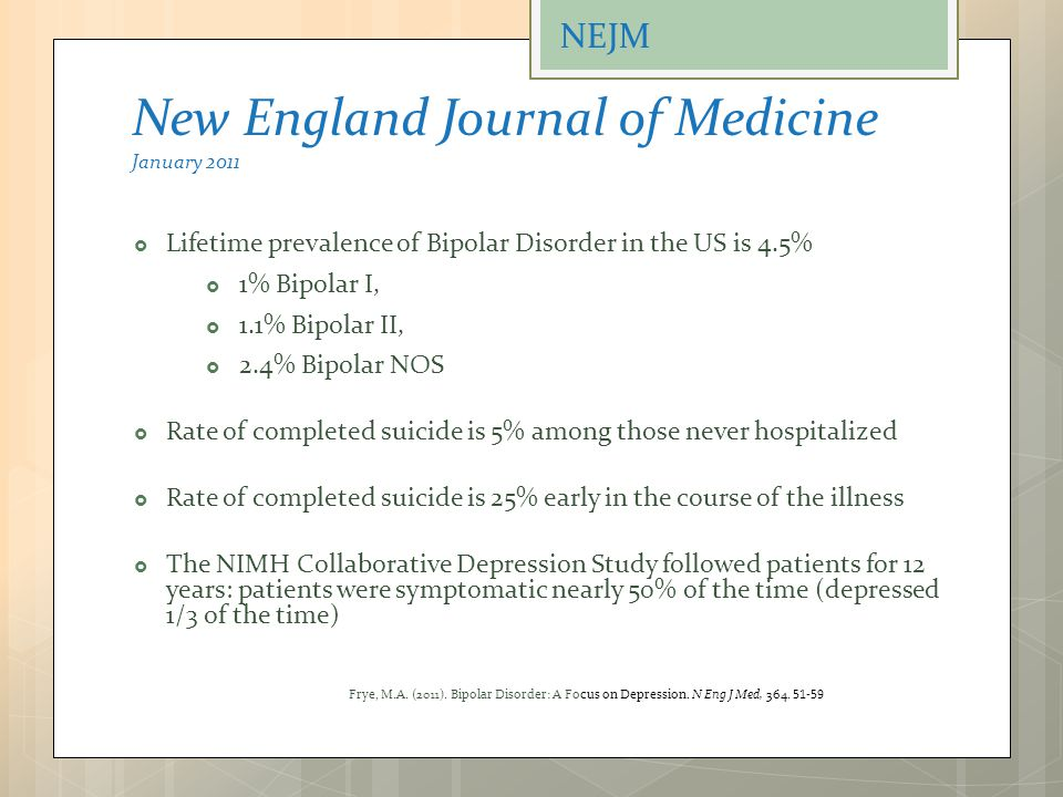 New England Journal of Medicine January 2011