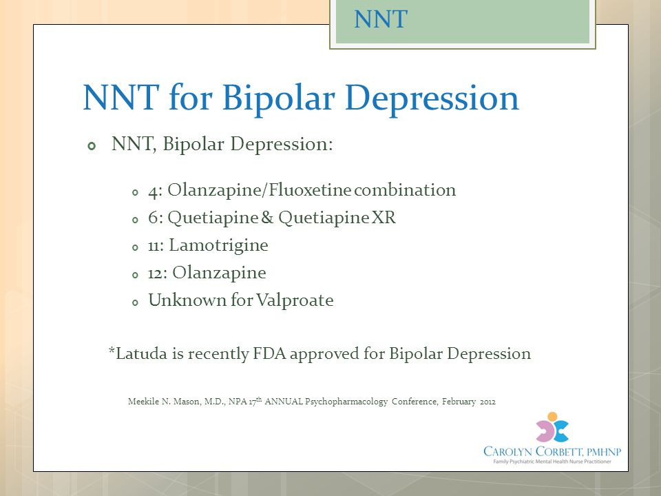 NNT for Bipolar Depression
