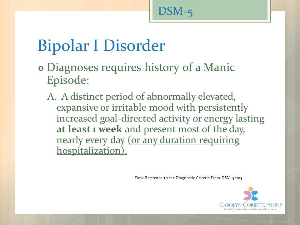 Bipolar I Disorder DSM-5