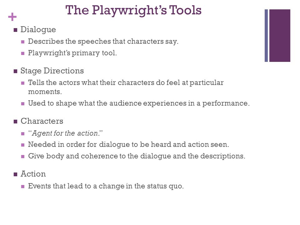 The Playwright's Tools
