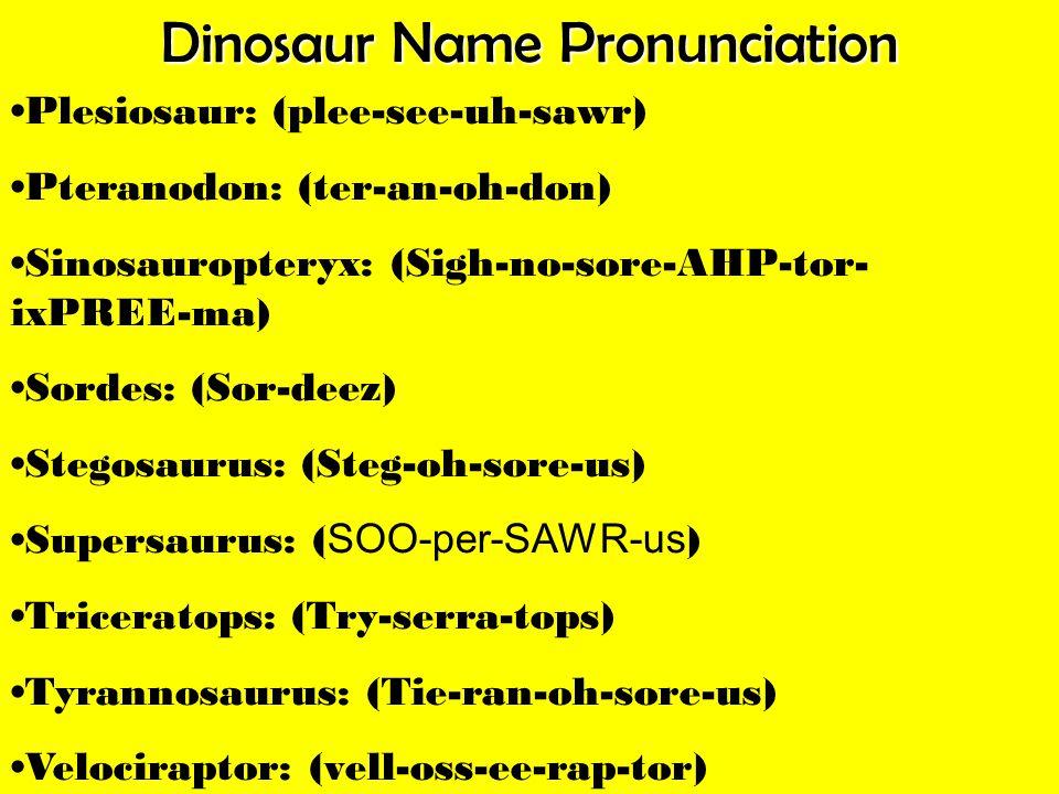 Dinosaur Name Pronunciation