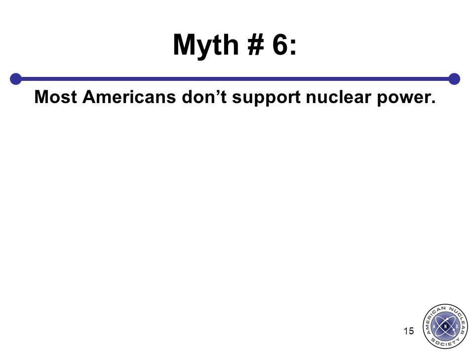 Most Americans don't support nuclear power.