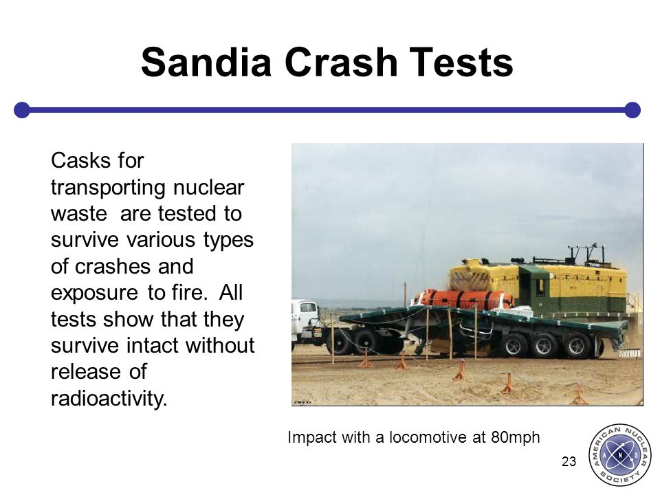 Sandia Crash Tests