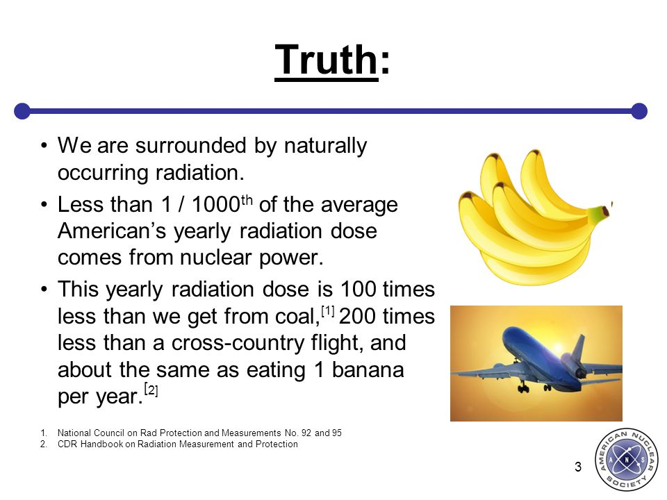 Truth: We are surrounded by naturally occurring radiation.
