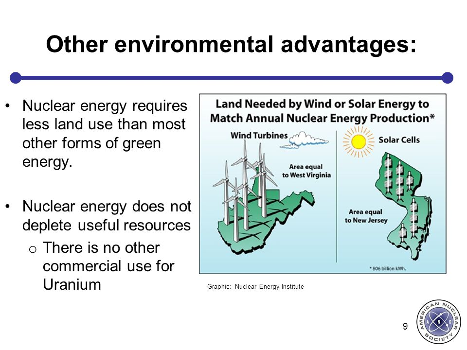 Other environmental advantages: