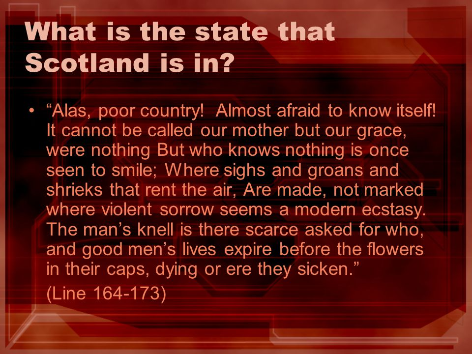 What is the state that Scotland is in