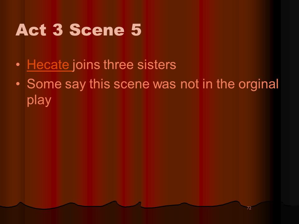 Act 3 Scene 5 Hecate joins three sisters
