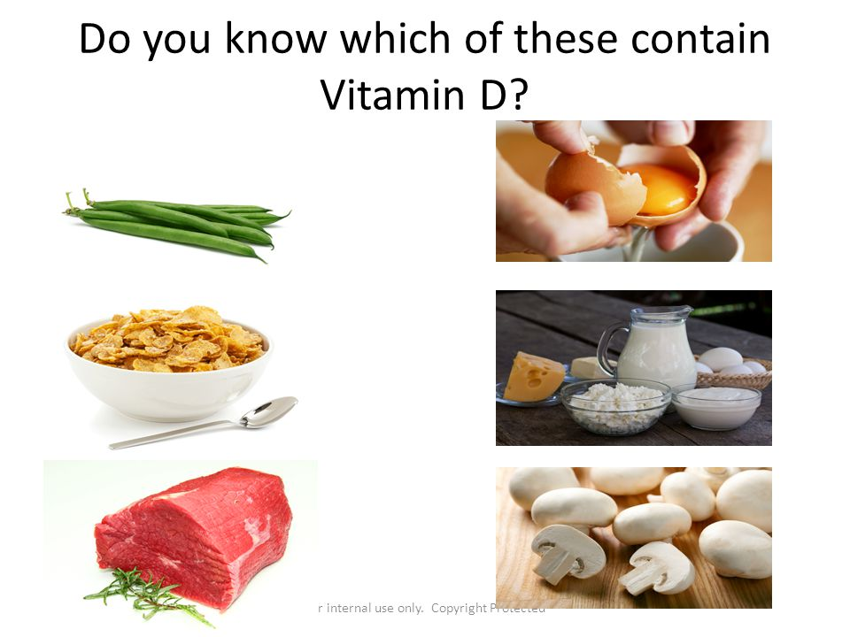 Do you know which of these contain Vitamin D