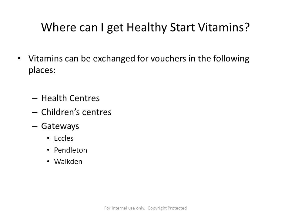 Where can I get Healthy Start Vitamins