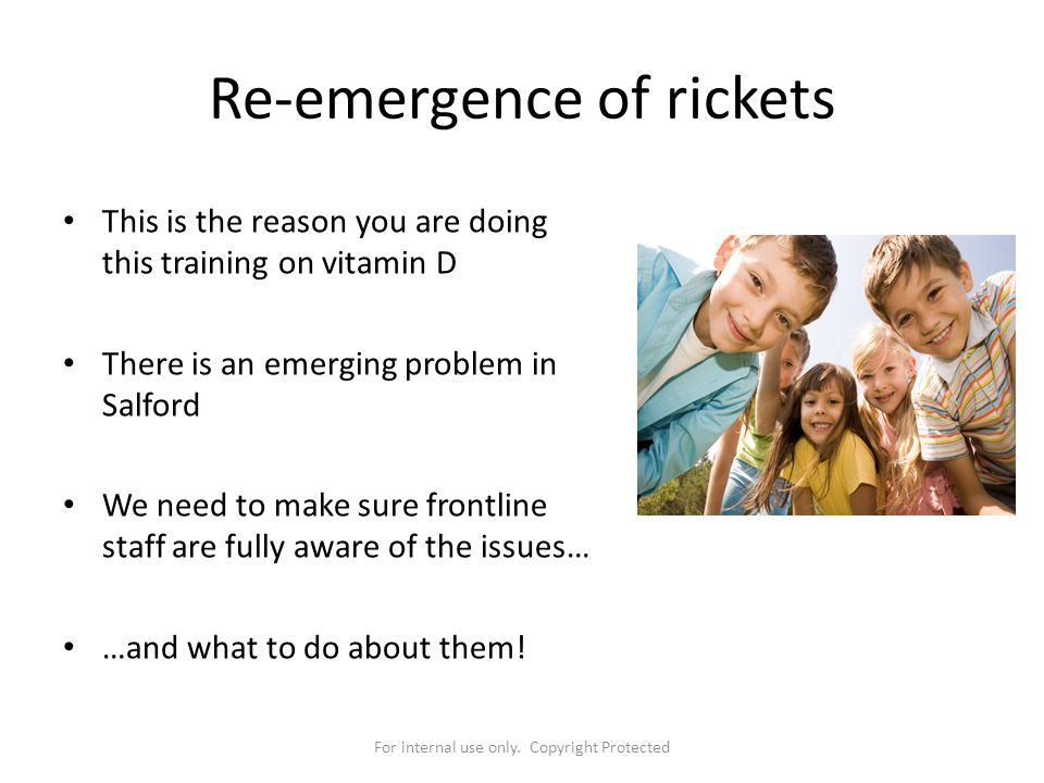 Re-emergence of rickets