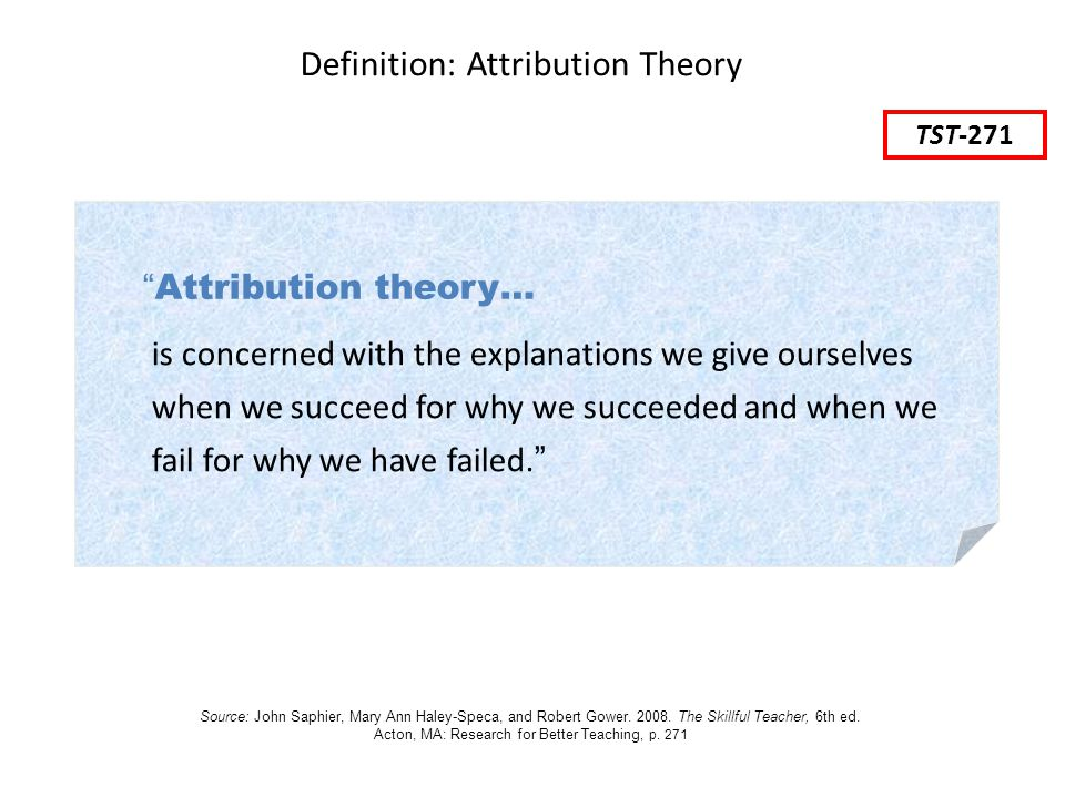 Definition: Attribution Theory
