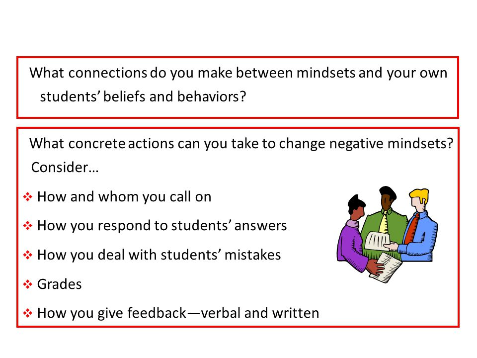 Connections: Dweck's Research and Your Students