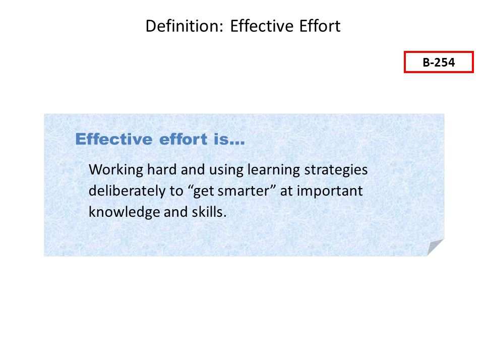 Definition: Effective Effort