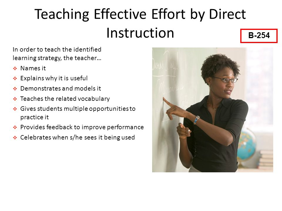 Teaching Effective Effort by Direct Instruction