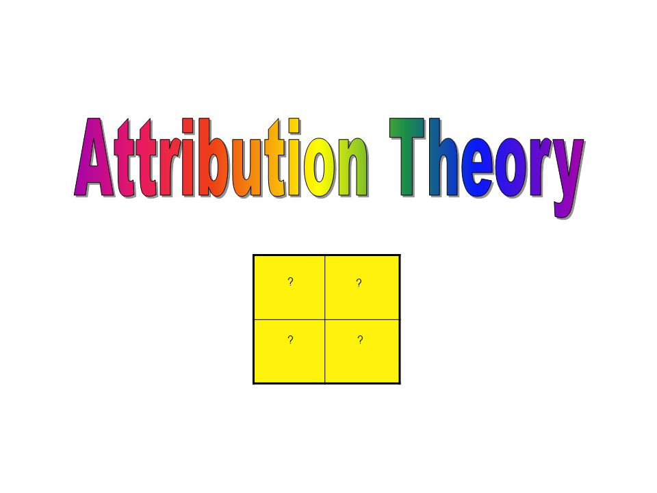 Attribution Theory 6 Assessment 6