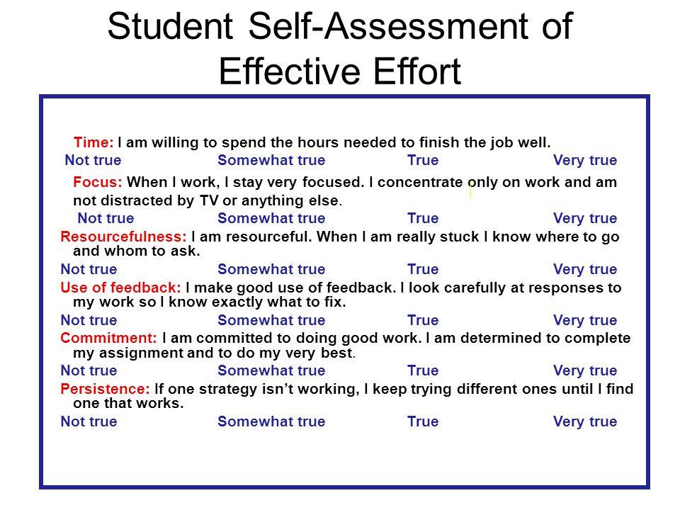 Student Self-Assessment of Effective Effort