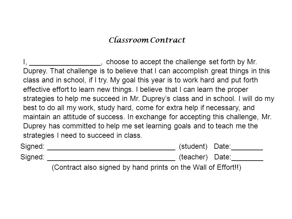 (Contract also signed by hand prints on the Wall of Effort!!)