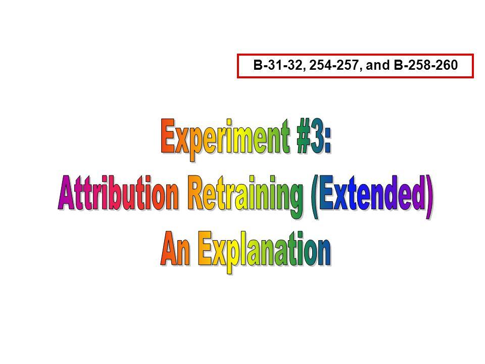 Attribution Retraining (Extended)