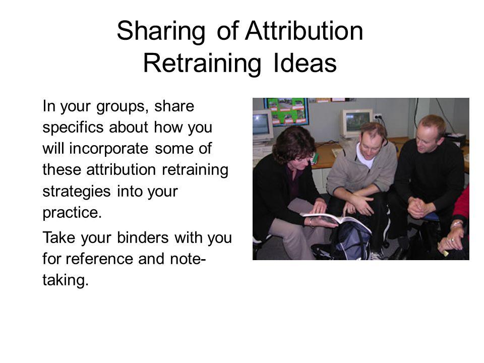 Sharing of Attribution Retraining Ideas