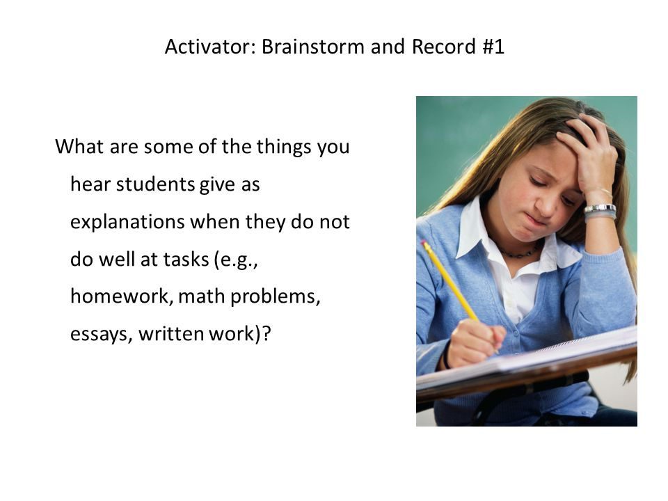 Activator: Brainstorm and Record #1