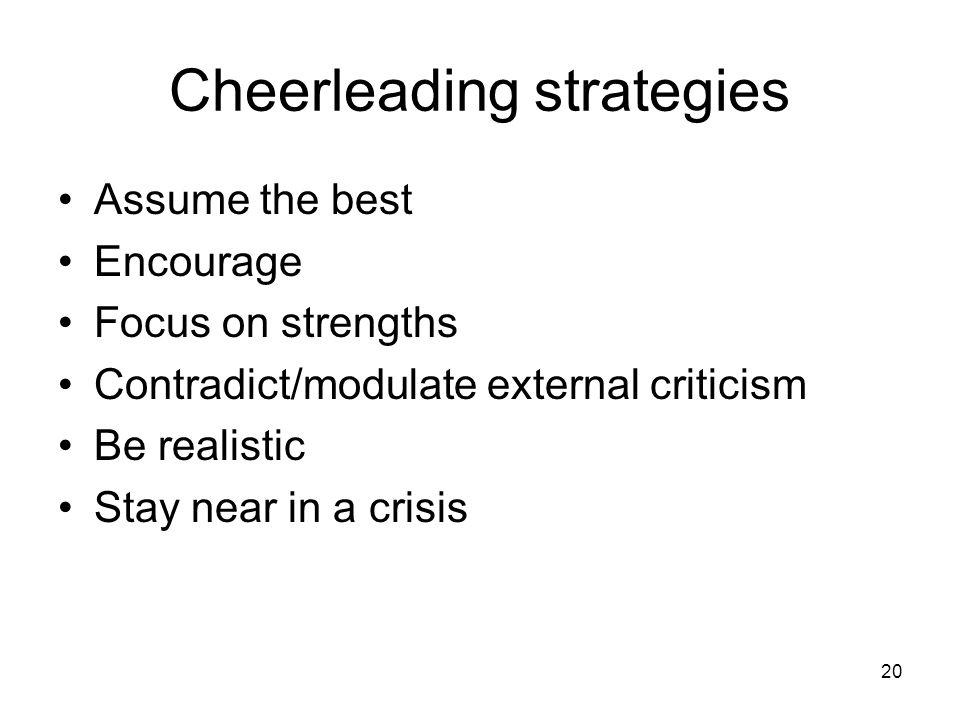 Cheerleading strategies