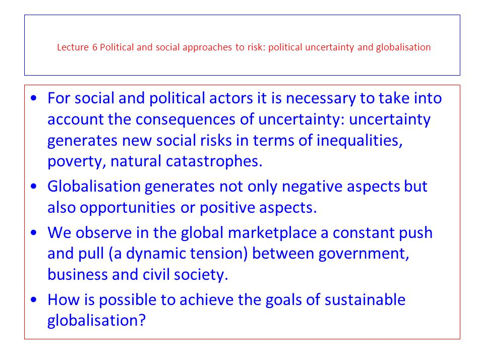 How is possible to achieve the goals of sustainable globalisation
