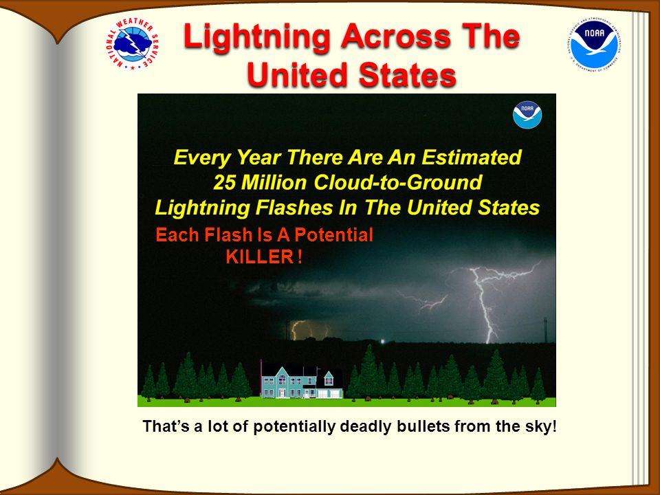 Lightning Across The United States