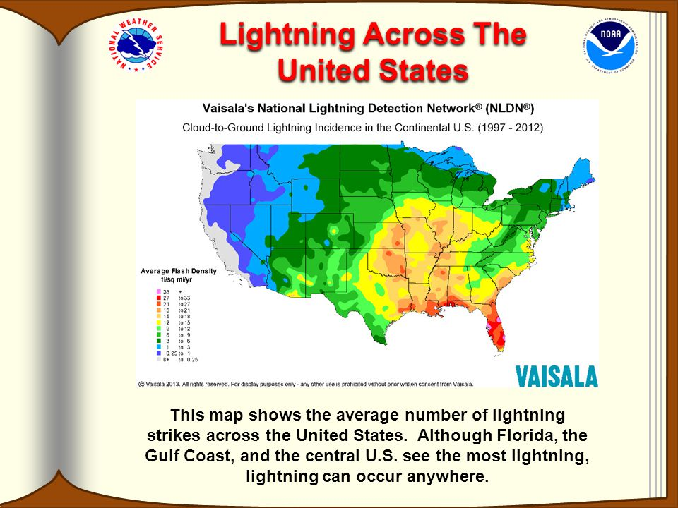 Dr Lightnings Guide To National Weather Service Ppt Video - Us lightning map
