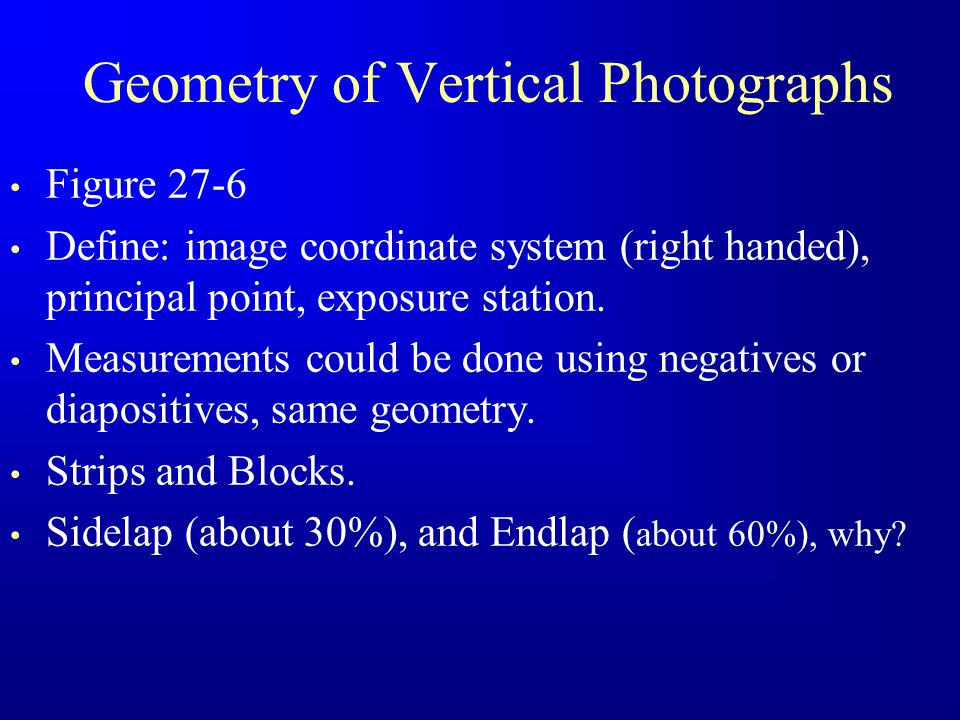 Geometry of Vertical Photographs