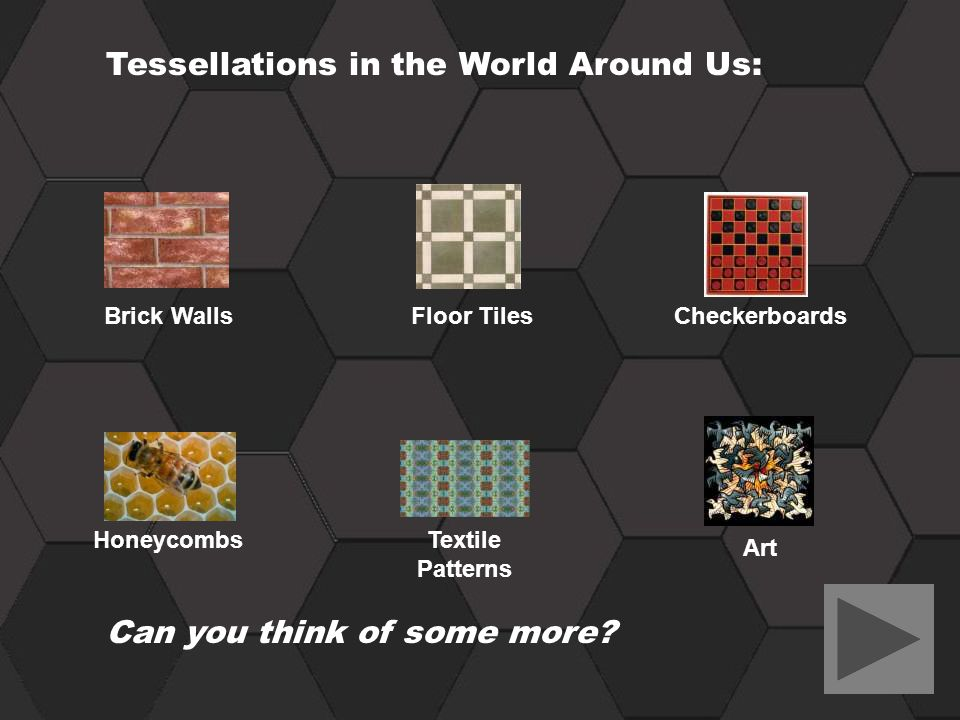 Tessellations in the World Around Us: