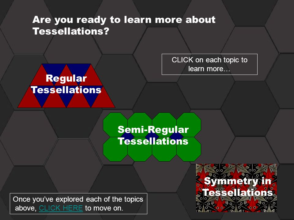 Are you ready to learn more about Tessellations