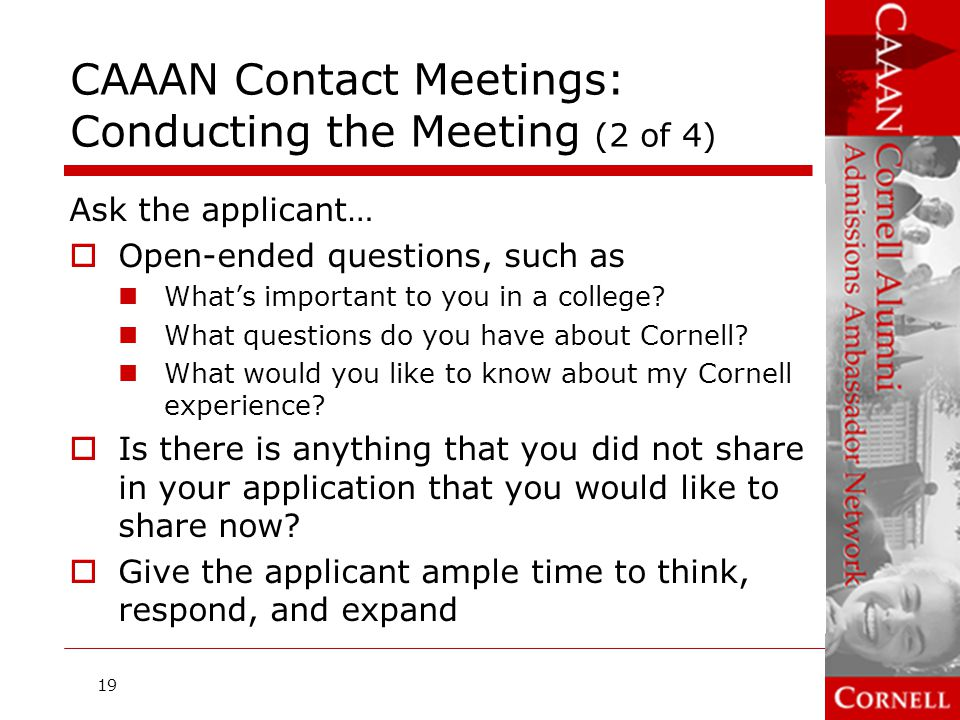 CAAAN Contact Meetings: Conducting the Meeting (2 of 4)