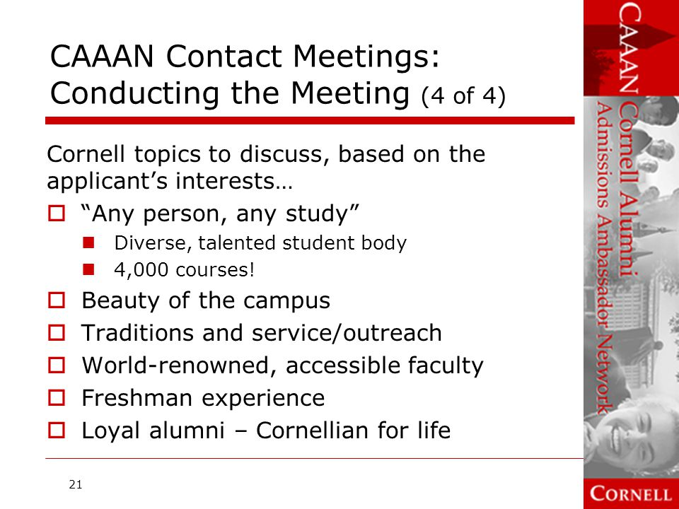 CAAAN Contact Meetings: Conducting the Meeting (4 of 4)
