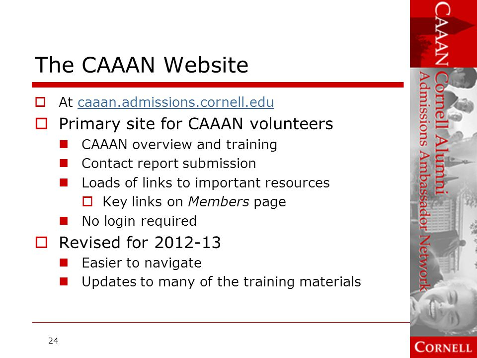 The CAAAN Website Primary site for CAAAN volunteers