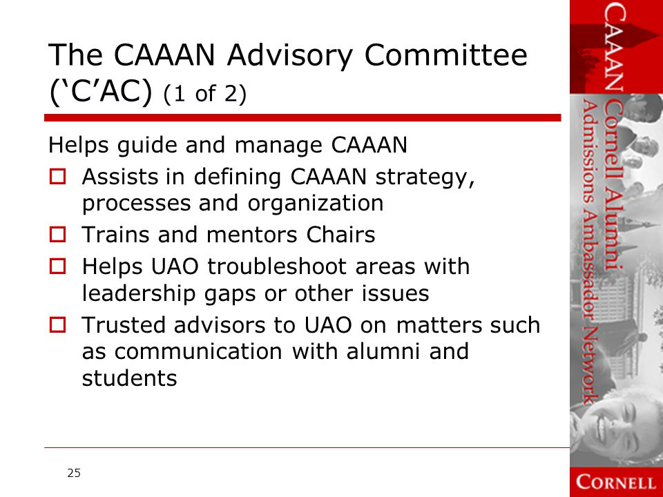 The CAAAN Advisory Committee ('C'AC) (1 of 2)