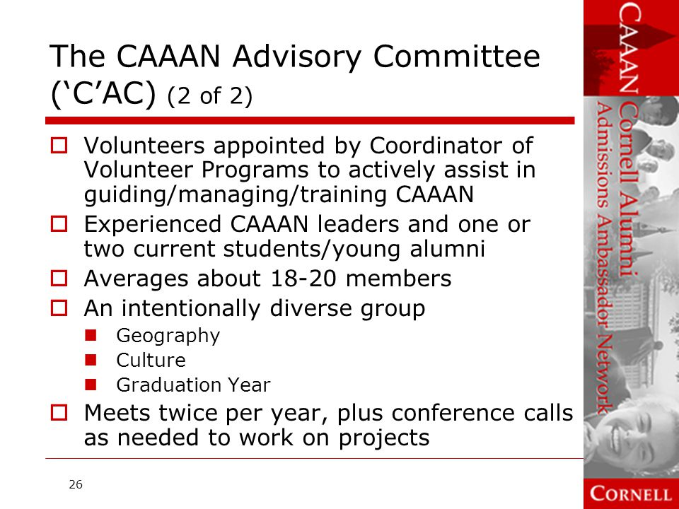 The CAAAN Advisory Committee ('C'AC) (2 of 2)